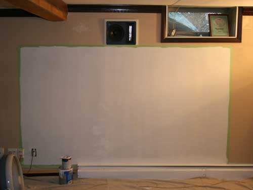 projector wall paintDo it yourself Projection screen